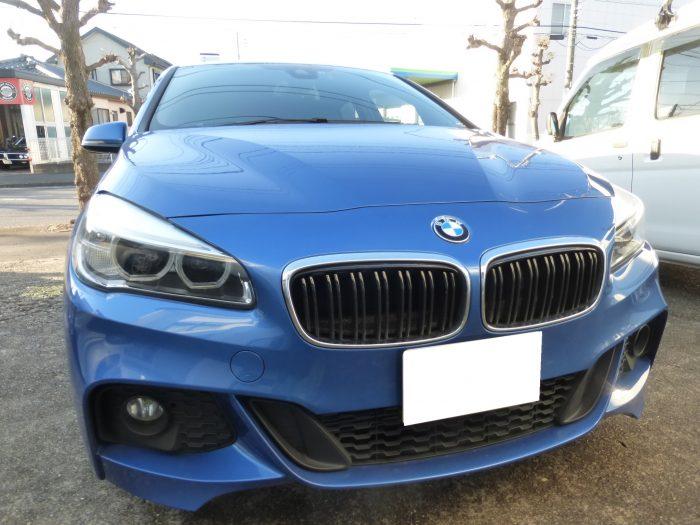 BMW218iのガラスリペア 守谷市